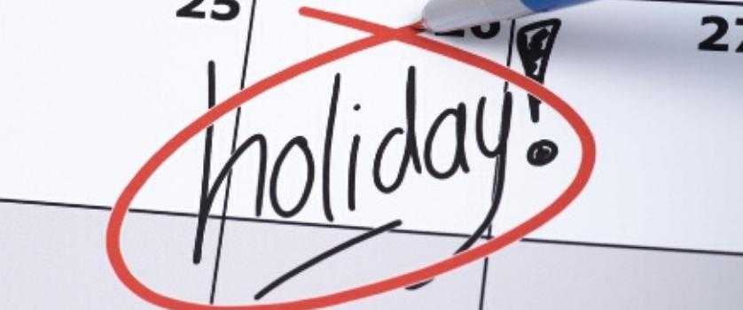 February 2020 State Holidays