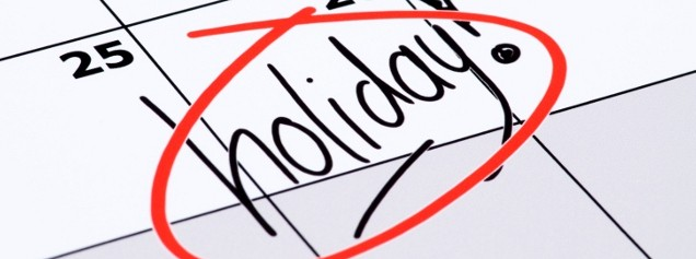 October 2017 State Holidays